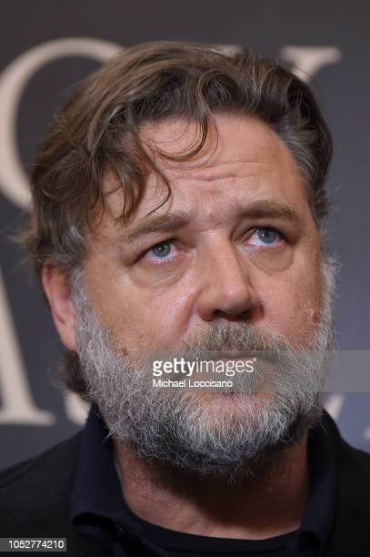 Actor Russell Crowe attends the New York screening of 'Boy Erased' at the Whitby Hotel on October 22 2018 in New York City
