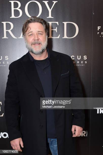 Actor Russell Crowe attends the New York screening of Boy Erased at the Whitby Hotel on October 22 2018 in New York City