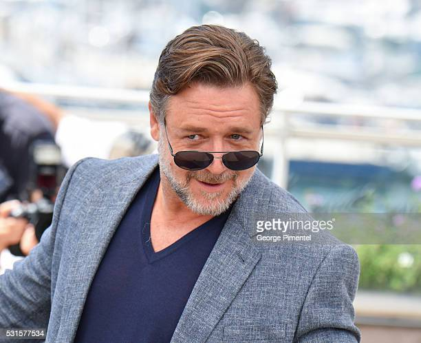 Actor Russell Crowe attends 'The Nice Guys ' Photocall at the annual 69th Cannes Film Festival at Palais des Festivals on May 15 2016 in Cannes France