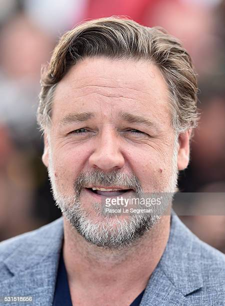 Actor Russell Crowe attends The Nice Guys photocall during the 69th annual Cannes Film Festival at the Palais des Festivals on May 15 2016 in Cannes...