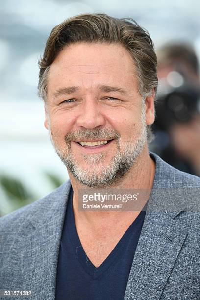 Actor Russell Crowe attends 'The Nice Guys' photocall during the 69th annual Cannes Film Festival at the Palais des Festivals on May 15 2016 in Cannes