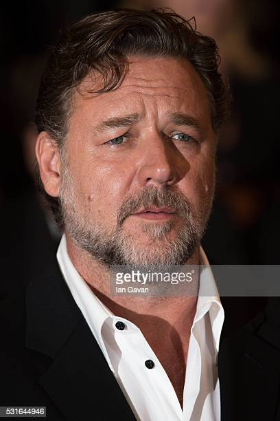Actor Russell Crowe attends 'The Nice Guys' Premiere during the 69th annual Cannes Film Festival at the Palais des Festivals on May 15 2016 in Cannes...