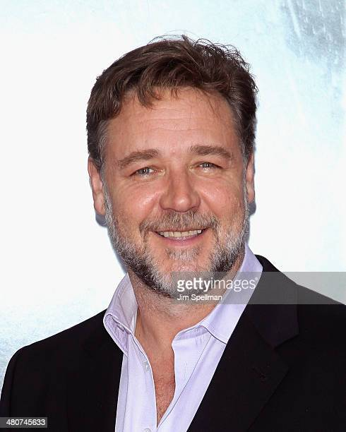 Actor Russell Crowe attends the 'Noah' New York Premiere at Ziegfeld Theatre on March 26 2014 in New York City