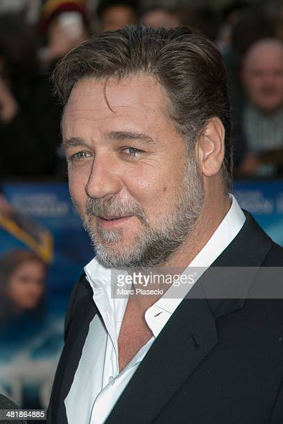 Actor Russell Crowe attends the 'Noah' Premiere at Cinema Gaumont Marignan on April 1 2014 in Paris France