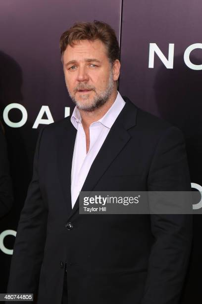 Actor Russell Crowe attends the Noah premiere at Ziegfeld Theatre on March 26 2014 in New York City