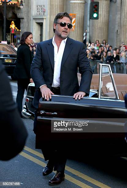Actor Russell Crowe attends the premiere of Warner Bros Pictures' 'The Nice Guys' at TCL Chinese Theatre on May 10 2016 in Hollywood California
