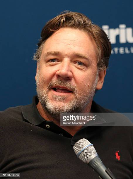 Actor Russell Crowe attends the SiriusXM's 'Town Hall' With The Cast Of 'Nice Guys' on May 12 2016 in New York City