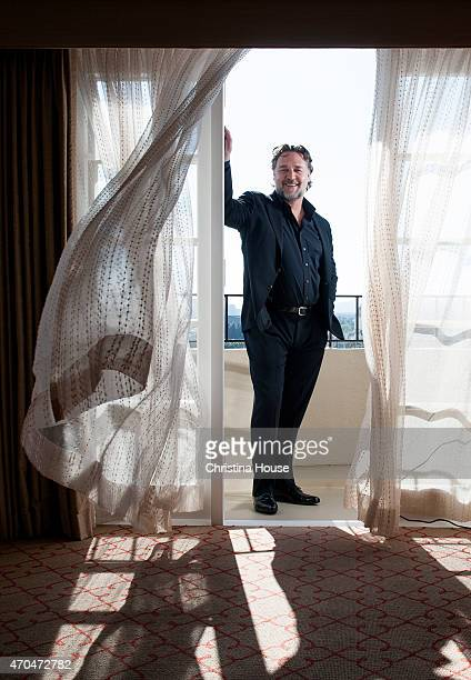 Actor Russell Crowe is photographed for Los Angeles Times on April 12 2015 in Beverly Hills California PUBLISHED IMAGE