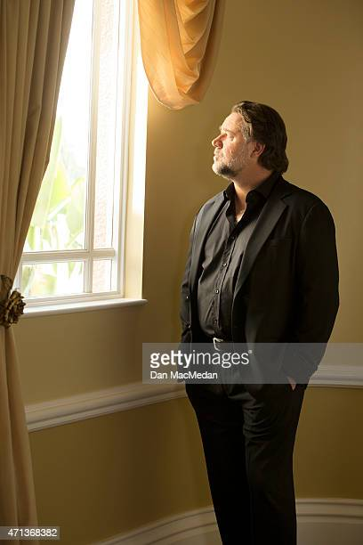 Actor Russell Crowe is photographed for USA Today on April 16 2015 in Beverly Hills California