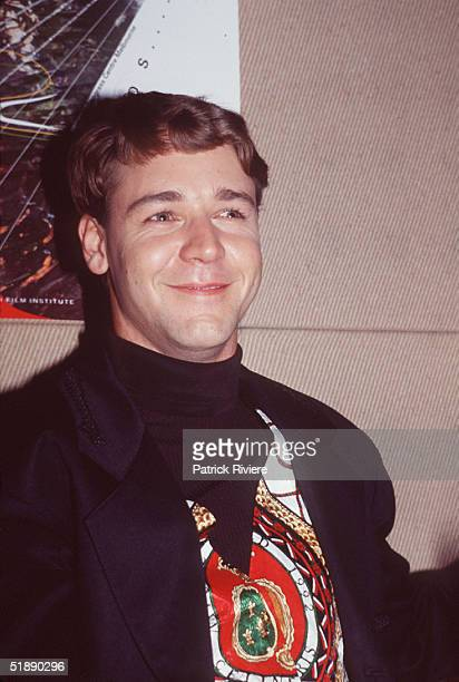 Actor Russell Crowe pictured during the 1992 AFI Awards in Sydney Australia