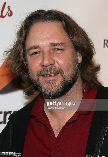 Actor Russell Crowe poses at the QA after the Australians In Film Screening Of American Gangster at the Landmark Theaters on October 30 2007 in Los...