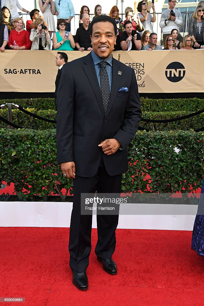 Actor Russell Hornsby attends The 23rd Annual Screen Actors Guild Awards at The Shrine Auditorium on January 29, 2017 in Los Angeles, California. 26592_008