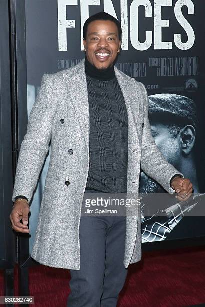 Actor Russell Hornsby attends the 'Fences' New York screening at Rose Theater Jazz at Lincoln Center on December 19 2016 in New York City