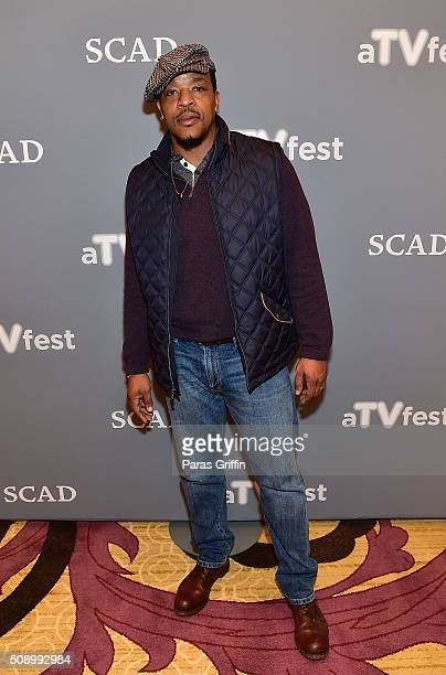 Actor Russell Hornsby attends the 'Grimm' event during aTVfest 2016 presented by SCAD on February 7 2016 in Atlanta Georgia