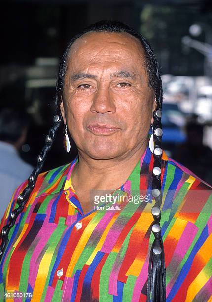 Actor Russell Means attends the 'Thomas and the Magic Railroad' Century City Premiere on July 22 2000 at Loews Cineplex Century Plaza Theatres in...