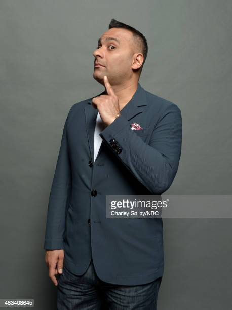 Actor Russell Peters poses for a portrait during the 2014 NBCUniversal Summer Press Day at The Langham Huntington on April 8, 2014 in Pasadena,...