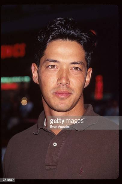 Actor Russell Wong attends the premiere of 'Supercop' July 24 1996 in New York City The movie was the followup to 'Rumble in the Bronx' Jackie Chan's...