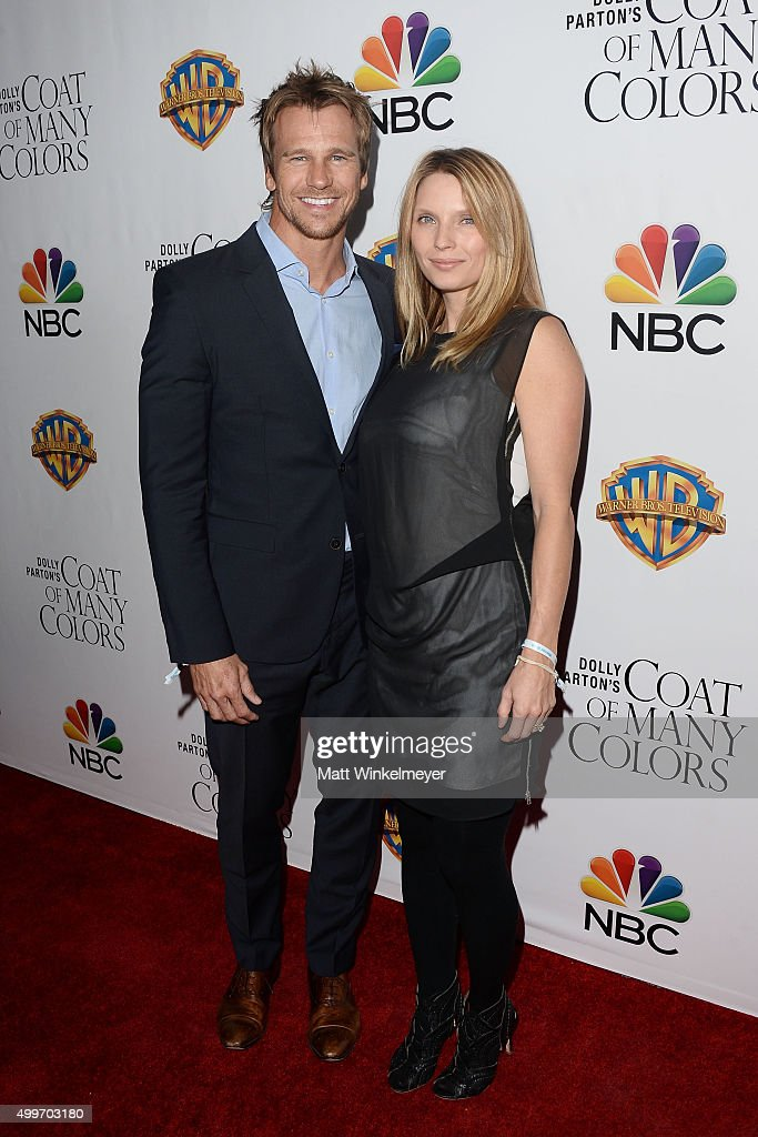 Actor Rusty Joiner(L) and actress Charity Walden(R) arrives at the premiere of Warner Bros. Television's 'Dolly Parton's Coat of Many Colors' at the Egyptian Theatre on December 2, 2015 in Hollywood, California.