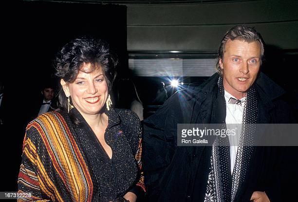 Actor Rutger Hauer and wife Ineke ten Kate attend the Second Annual American Cinematheque Award Salute to Bette Midler on February 21 1987 at the...