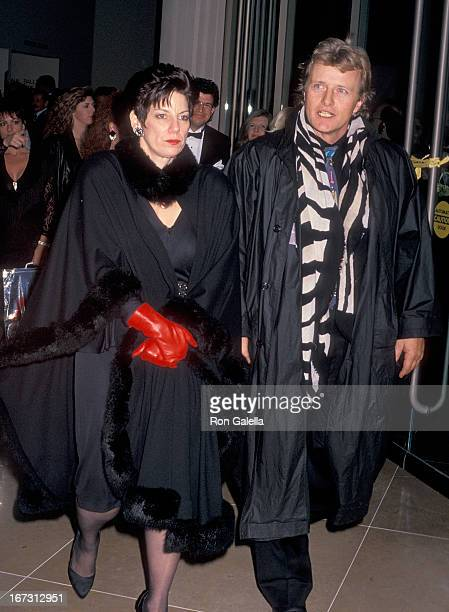 Actor Rutger Hauer and wife Ineke ten Kate attend the Seventh Annual American Cinema Awards on January 27 1990 at the Beverly Hilton Hotel in Beverly...