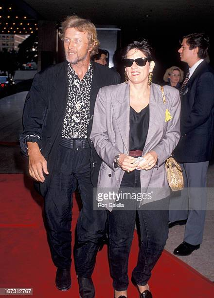 Actor Rutger Hauer and wife Ineke ten Kate attend the Sex Lies and Videotape Century City Premiere on August 3 1989 at the Cineplex Odeon Century...
