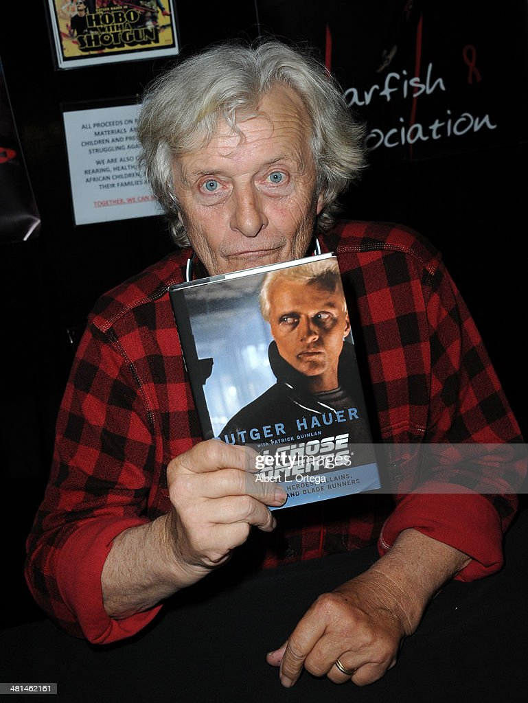 Actor Rutger Hauer attends the 2014 Monsterpalooza: The Art Of Monsters Convention held at Marriott Airport Hotel on March 29, 2014 in Burbank, California.