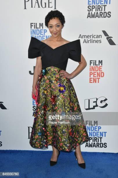Actor Ruth Negga attends the 2017 Film Independent Spirit Awards at the Santa Monica Pier on February 25 2017 in Santa Monica California