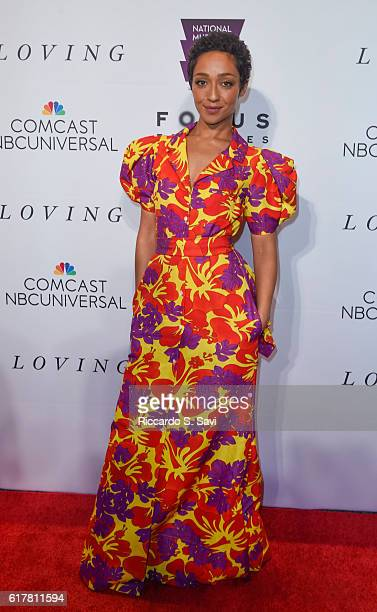 Actor Ruth Negga poses for a photo at the Premiere of the film 'Loving' at Smithsonian National Museum Of African American History on October 24 2016...
