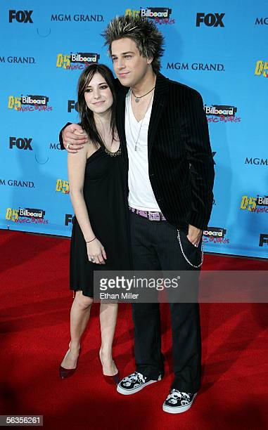 Actor Ryan Cabrera and Jessica Origliasso arrive at the 2005 Billboard Music Awards held at the MGM Grand Garden Arena on December 6 2005 in Las...