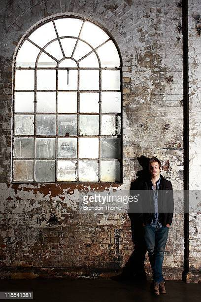 Actor Ryan Corr recipient of the AIF Heath Ledger Scholarship Award poses on the set of the Australian television show Packed to the Rafters on June...