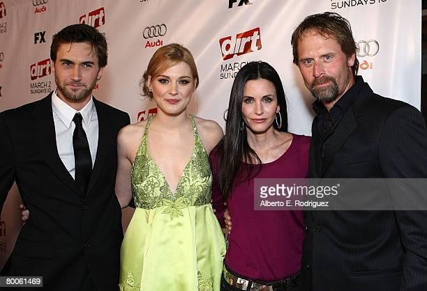 Actor Ryan Eggold actress Alexandra Breckenridge actress Courteney Cox and actor Jeffrey Nordling arrive at the 2nd season premiere screening of FX...