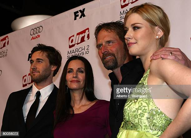 Actor Ryan Eggold actress Courteney Cox actor Jeffrey Nordling and actress Alexandra Breckenridge arrive at the 2nd season premiere screening of FX...