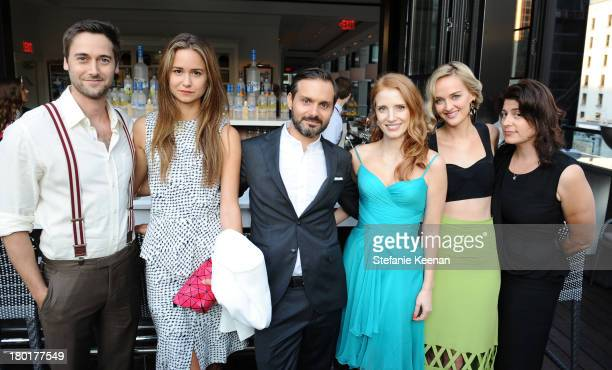 Actor Ryan Eggold actress Katherine Waterston director Ned Benson actresses Jessica Chastain Jess Weixler and producer Cassandra Kulukundis at the...