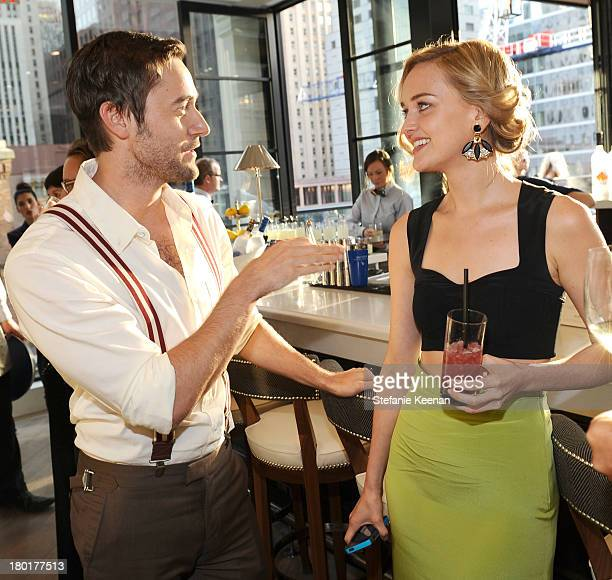 Actor Ryan Eggold and actress Jess Weixler at the Grey Goose vodka and Hudson's Bay dinner for The Disappearance of Eleanor Rigby at Chase on...