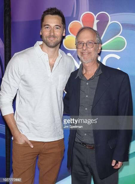 Actor Ryan Eggold and Dr. Eric Manheimer attend the NBC Fall New York Junket at Four Seasons Hotel New York on September 6, 2018 in New York City.