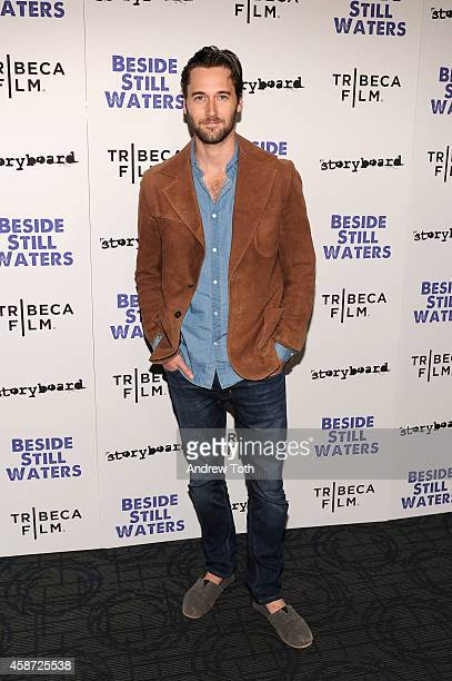 Actor Ryan Eggold attends the 'Besides Still Waters' New York premiere at Sunshine Landmark on November 9 2014 in New York City