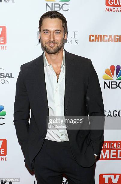 Actor Ryan Eggold attends the TV Guide Magazine celebrates Dick Wolf's Chicago series at LeGrande Lounge at The Time New York Hotel on February 8...