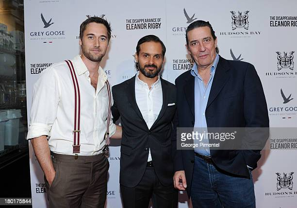 Actor Ryan Eggold Director Ned Benson and Actor Ciaran Hinds arrive at The Disappearance of Eleanor Rigby dinner hosted by Hudson's Bay and Grey...