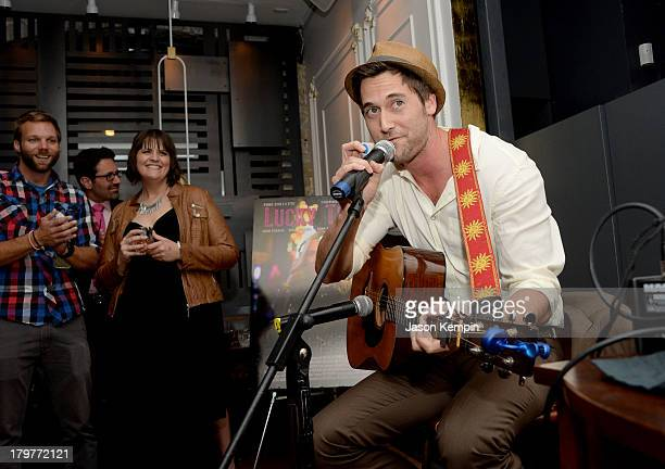 "Actor Ryan Eggold performs at the ""Lucky Them"" World Premiere After Party, AMC Storys, Toronto International Film Festival on September 6, 2013 in..."