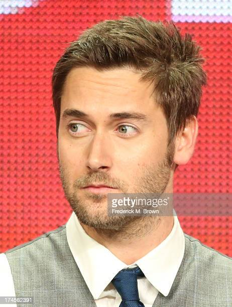 "Actor Ryan Eggold speaks onstage during ""The Blacklist"" panel discussion at the NBC portion of the 2013 Summer Television Critics Association tour -..."