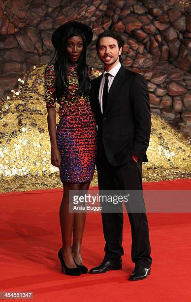 """Actor Ryan Gage and guest attend the """"The Hobbit: The Desolation of Smaug"""" European Premiere at Cinestar on December 9, 2013 in Berlin, Germany."""
