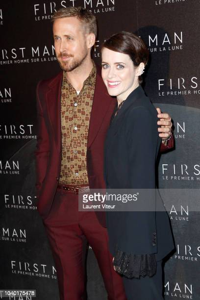 Actor Ryan Gosling and Actress Claire Foy attend 'First Man' Paris Premiere at Cinema UGC Normandie on September 25 2018 in Paris France