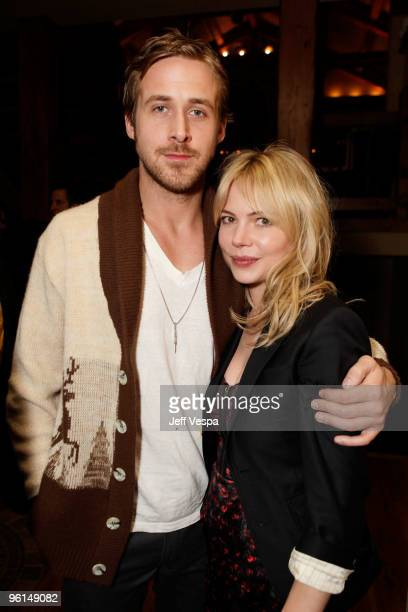 Actor Ryan Gosling and actress Michelle Williams attend the Coach dinner for 'Blue Valentine' on January 24 2010 in Park City Utah