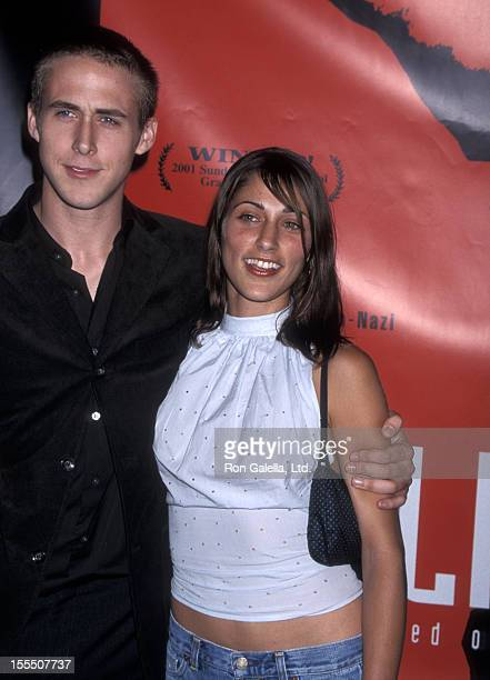 Actor Ryan Gosling and actress Summer Phoenix attend the Screening of the Showtime Original Movie The Believer on September 6 2001 at DGA Theatre in...