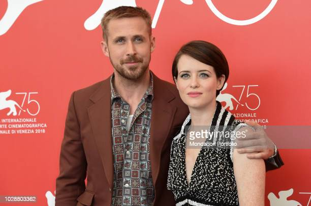 Actor Ryan Gosling and Claire Foy at First Man movie photocall at 75th Venice Film Festival Venice August 29th 2018