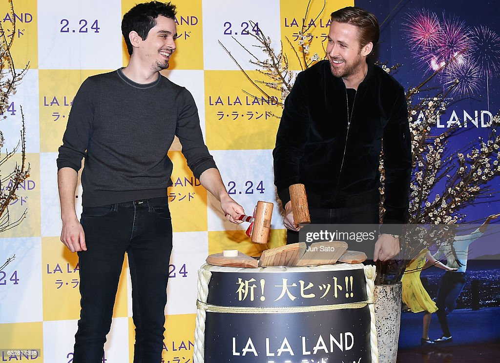 Actor Ryan Gosling and Director Damien Chazelle attend the press conference for the Japan premiere of 'La La Land' at The Ritz-Carlton on January 27, 2017 in Tokyo, Japan.
