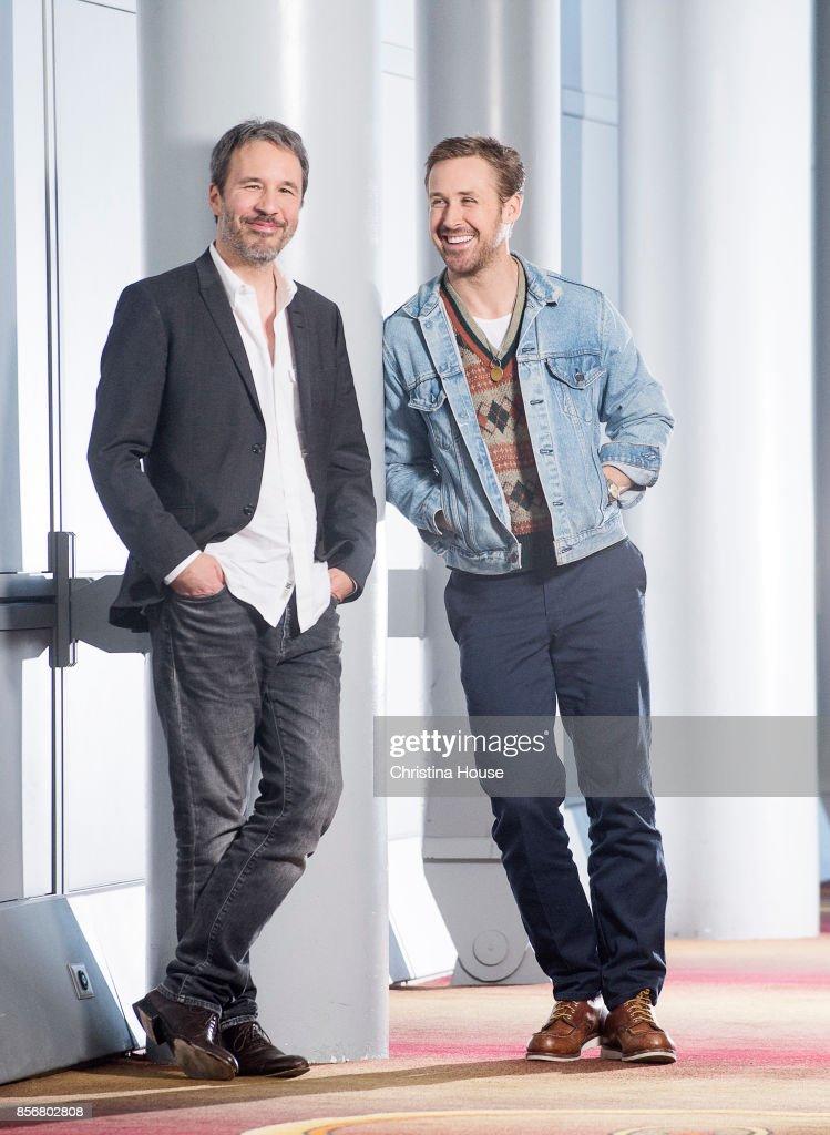 Actor Ryan Gosling and director Denis Villeneuve of 'Blade Runner 2049' for Los Angeles Times on September 24, 2017 in Los Angeles, California.