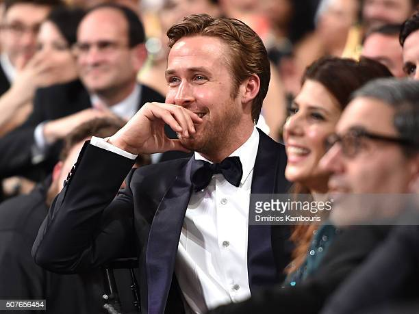 Actor Ryan Gosling and Marisa Tomei during The 22nd Annual Screen Actors Guild Awards at The Shrine Auditorium on January 30 2016 in Los Angeles...