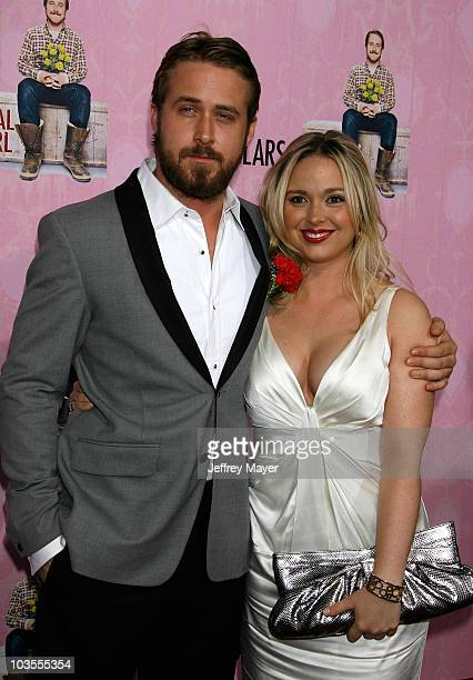 Actor Ryan Gosling and sister Mandy arrive at the Lars and The Real Girl Los Angeles Premiere at the Academy Theatre on October 2, 2007 in Beverly...