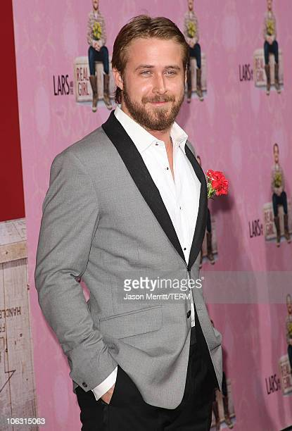 Actor Ryan Gosling arrives at the 'Lars and the Real Girl' Los Angeles Premiere at The Academy of Motion Picture Arts and Sciences on October 2 2007...